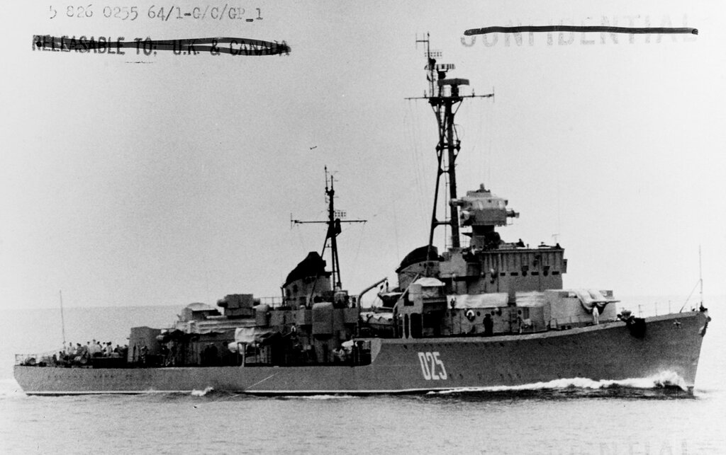 Soviet SKORYY Class Destroyer, photographed during 1964 in the Baltic.