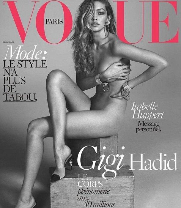 10. Джиджи Хадид Инстаграм, говорите? А на обложку Vogue — слабо?