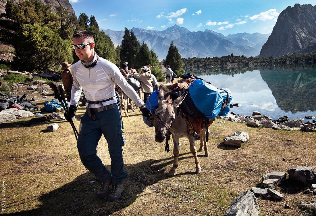 30. Рюкзаки запакованы, ослики загружены, выходим на маршрут.