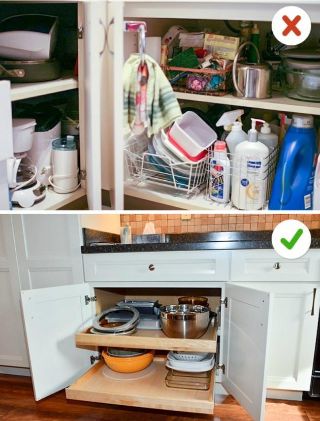 © flickr  © flickr  Вотдельных случаях распашные шкафчики собычными полками могут быть