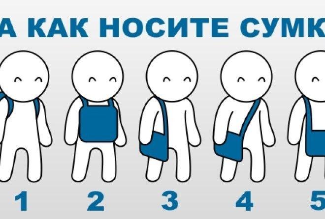 То, как вы носите сумку, может многое рассказать о вашей личности! (1 фото)