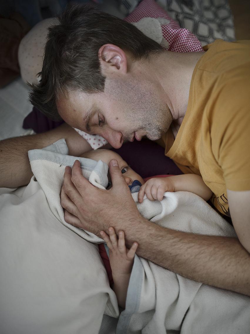 Патрик Барсетер, 35 лет. В отпуске по уходу за дочкой Эйрой находится 8 месяцев.