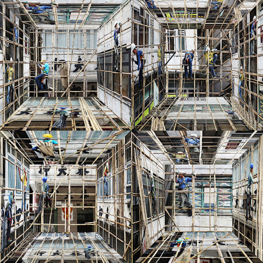 Incredible Photomontages of Density in Hong-Kong