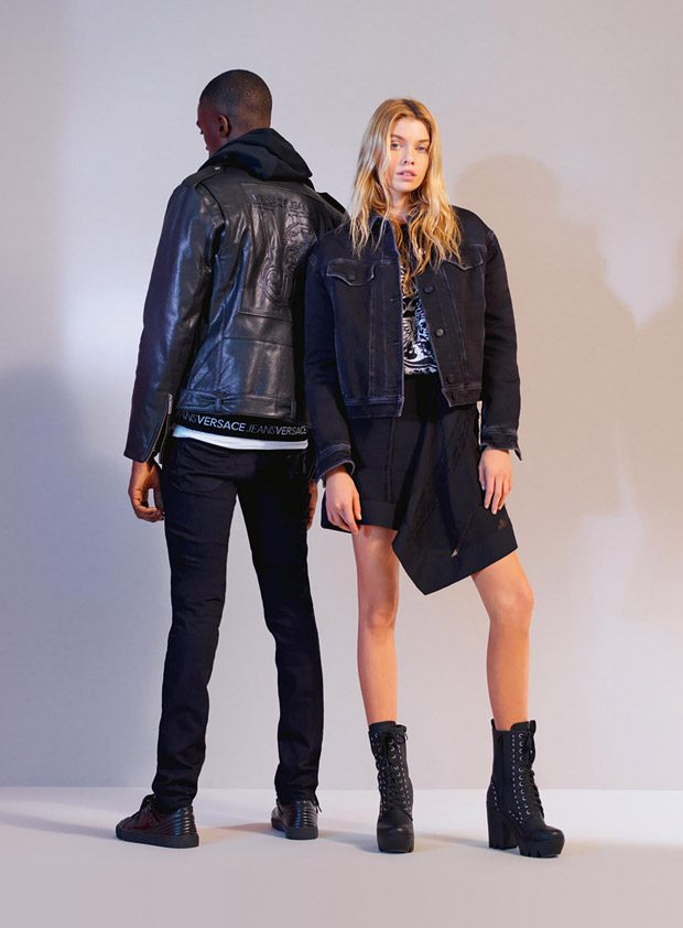Stella Maxwell & Davidson Obennebo for Versace Jeans FW17