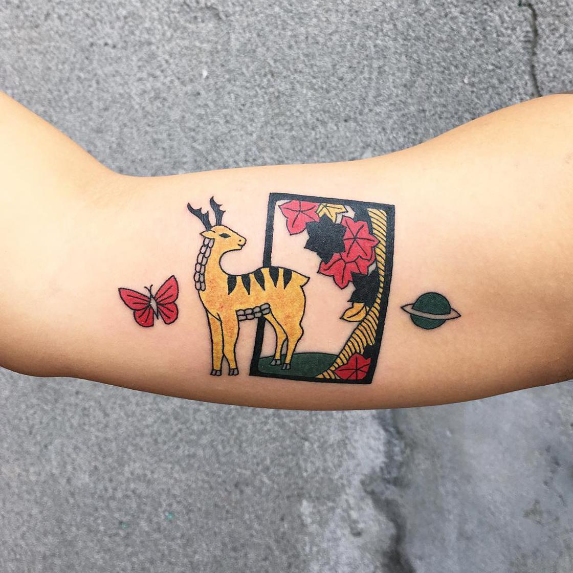Hybrid Ink - The adorable and colorful tattoos of Kimsany