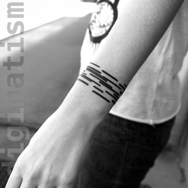 Minimalistic Tattoos inspired by the Digital Era