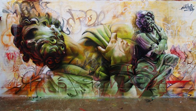 Murals of Greek Gods by Pichi & Avo