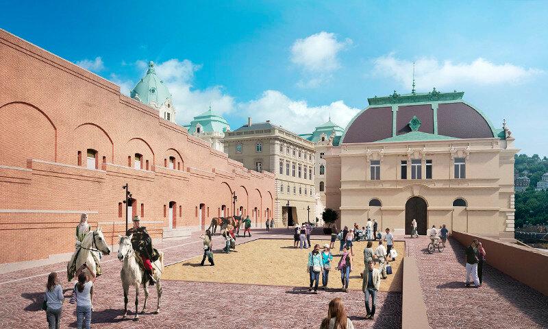 Hauszmann Terv - Bemutatták a Csikós-udvar rekonstrukciós tervét