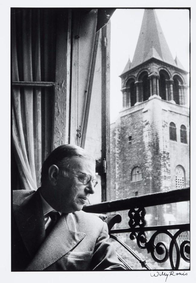 1956. Жан-Поль Сартр в доме на площади Сен-Жермен-де-Пре, Париж