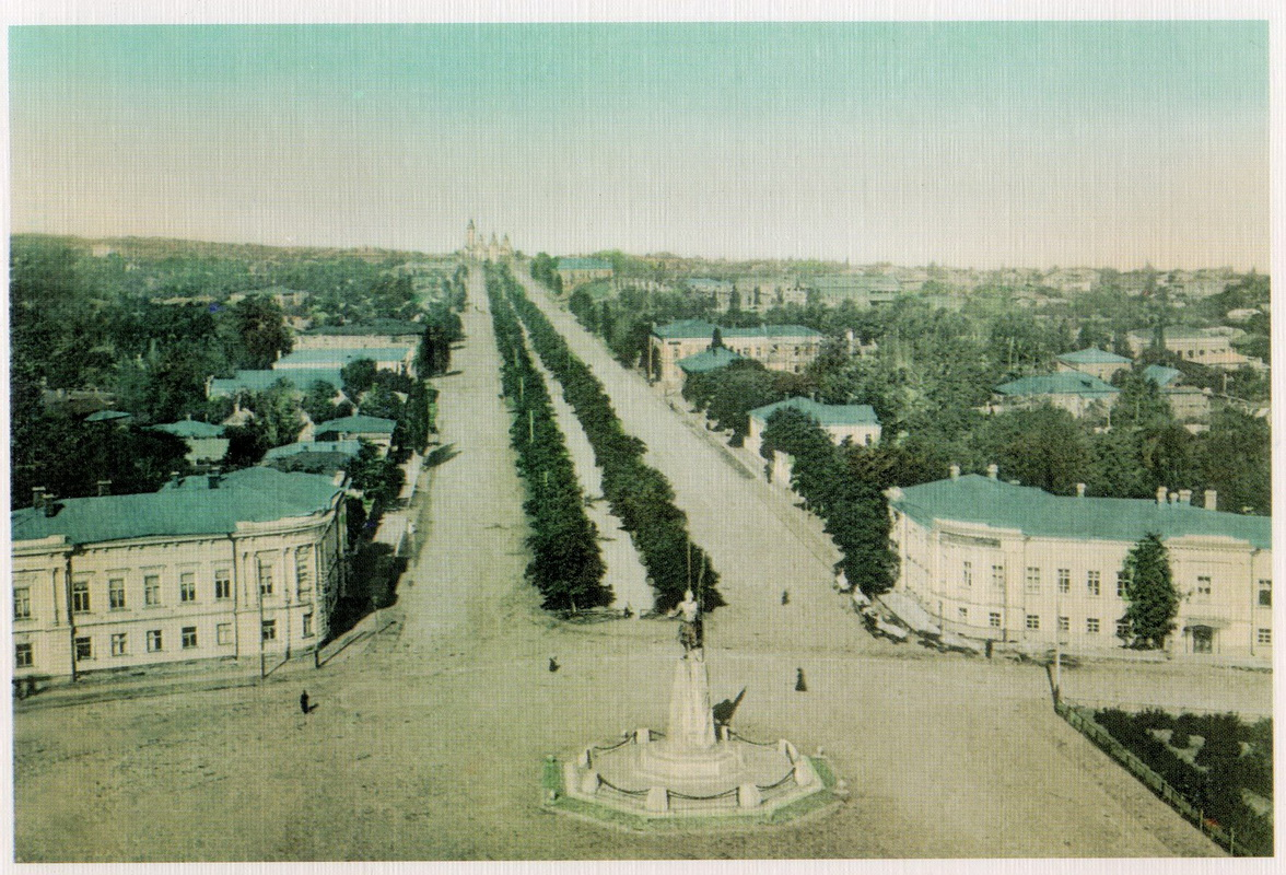 Ермаковский проспект и памятник Ермаку