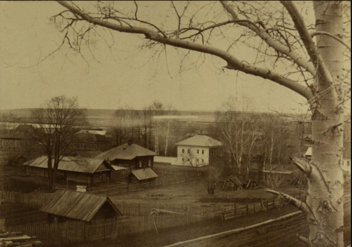 Северная часть с. Ильинского. Вид из дома А.А. Вологдина