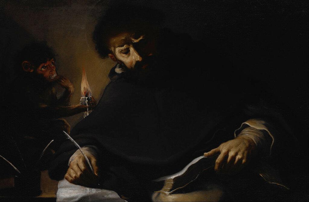 1280px-Pietro_della_Vecchia_-_St._Dominic_and_the_Devil_-_ок 1630.jpg