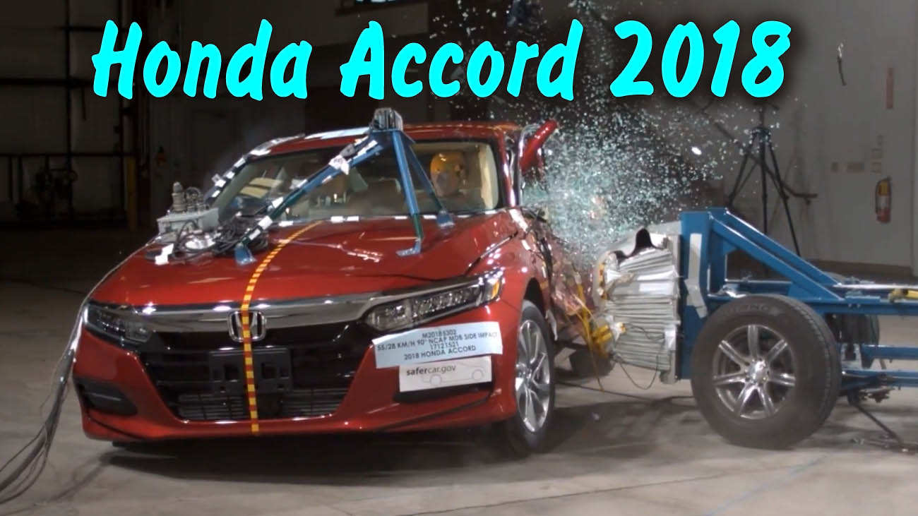 Боковой краш тест Honda Accord 2018