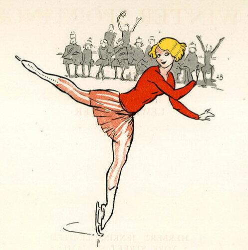 Подборка картин  «Женщина на коньках.  Каток в живописи»