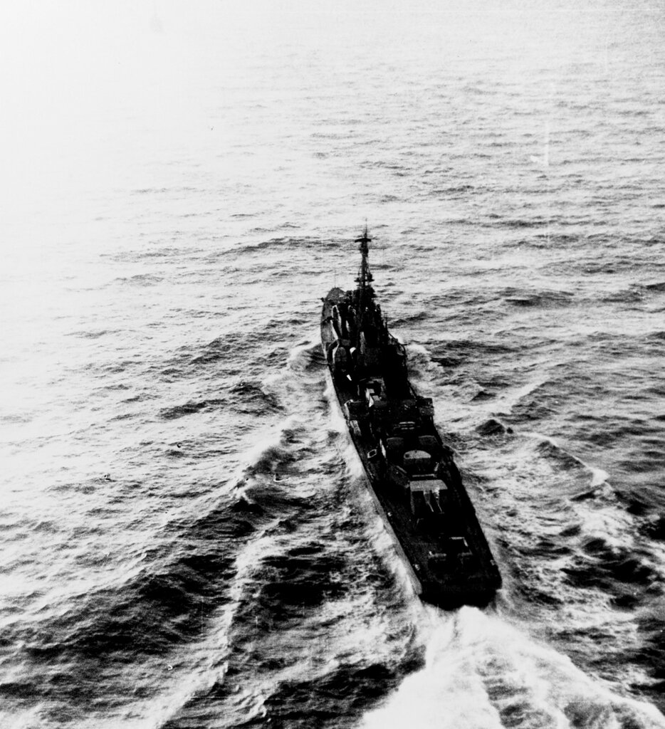 Soviet SKORYY Class Destroyer, photographed at 1615 hours Zulu time 3 March 1961, in the Kattegat Strait in position 57-48 North, 010-15 East. The ship was wearing pennant number 294 at the time of this photography.