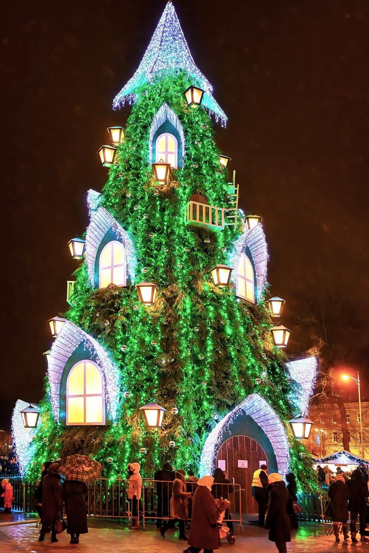 © erix2005  Главная елка страны зажигается наКафедральной площади. Она похожа науютный домик