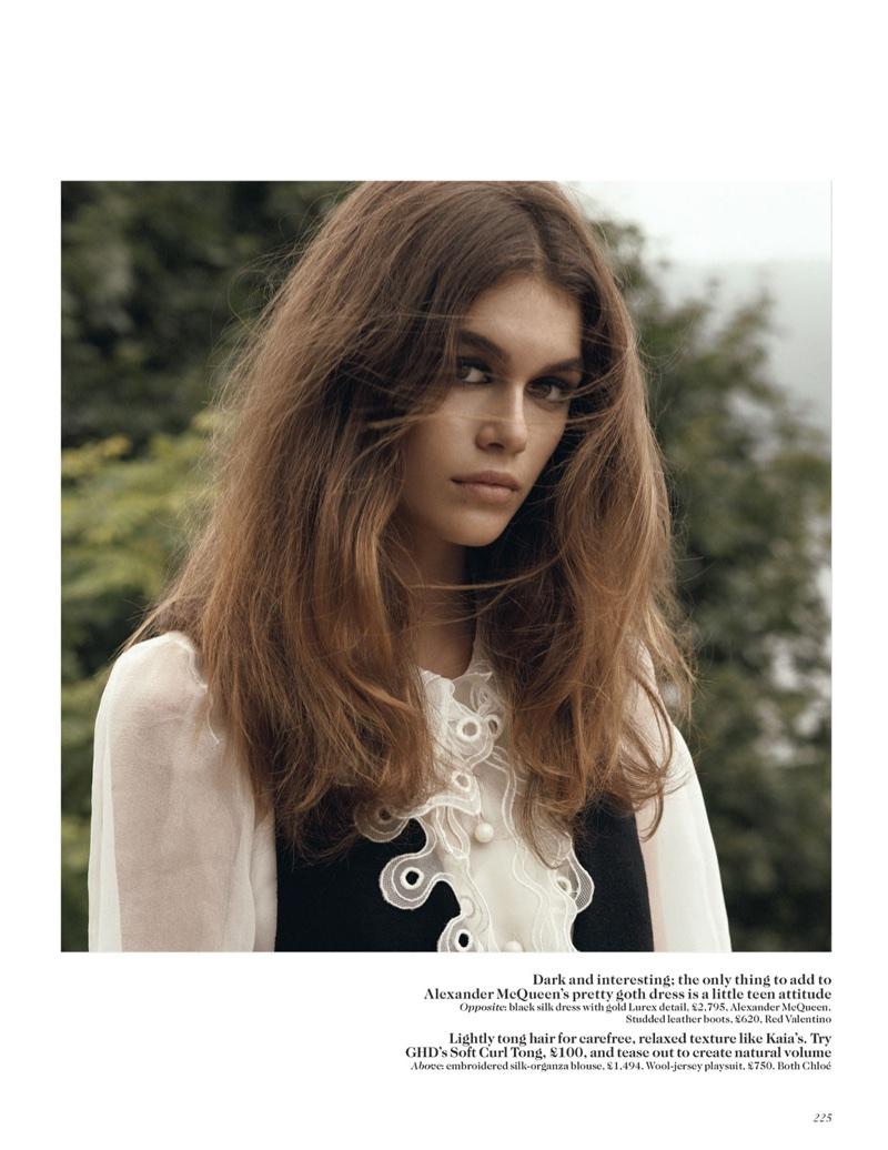 Кайя Гербер в Vogue UK