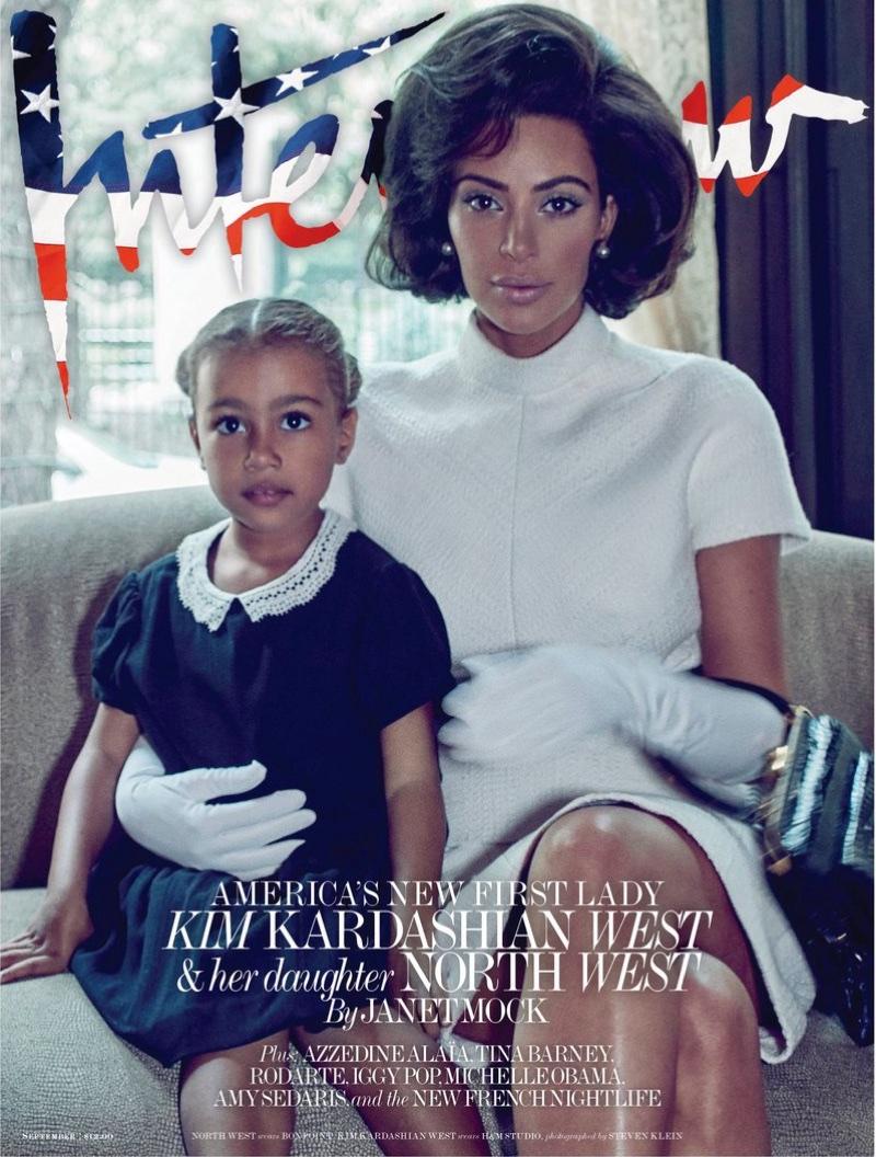 Ким Кардашьян в ретро-образах