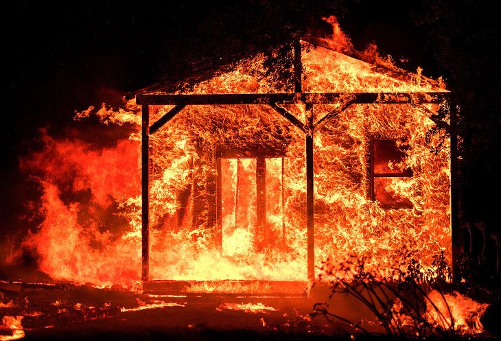 Америка в огне (18 фото)