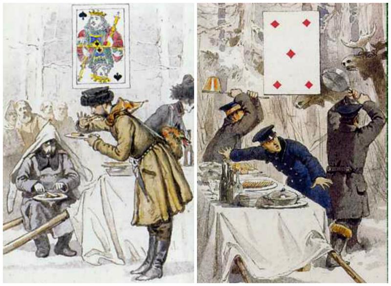 Карты Зичи.    Несмотря на походный антураж, столы «на охотничьем пленэре» накрывали крахмальны