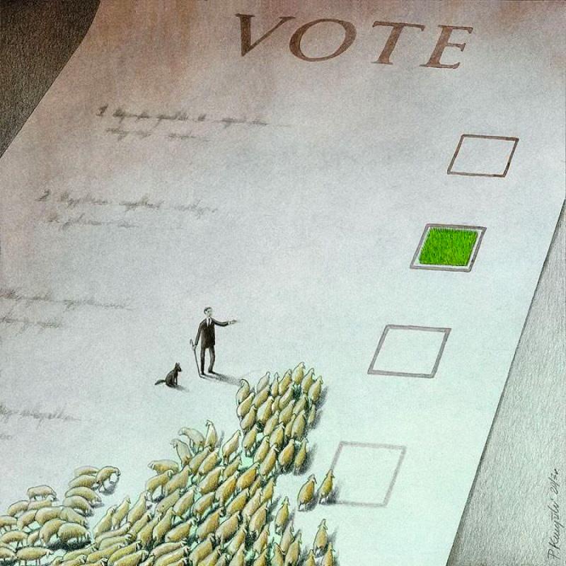 Глубочайшие карикатуры Павла Кучински, заставляющие переосмыслить мир (18 фото)
