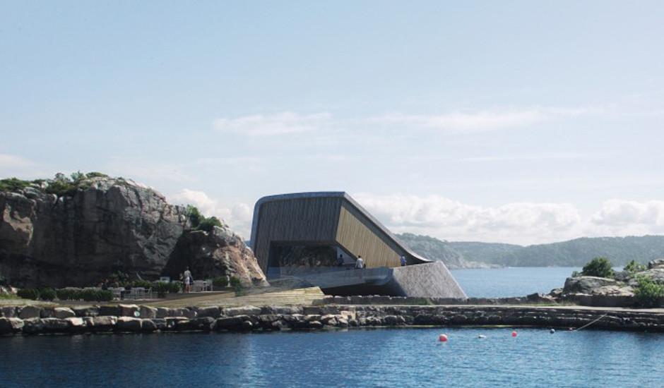Архитектурное бюро Snohetta разработало проект первого подводного ресторана в Европе, который будет