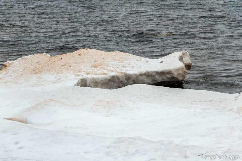 Лед, Онежское озеро