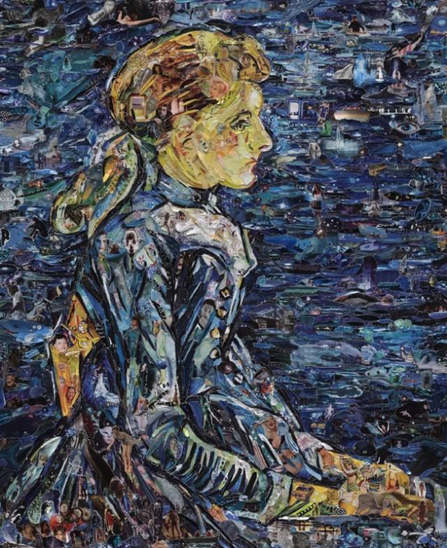 Famous Paintings Recreated Using Torn Magazine Scraps - Vik Muniz