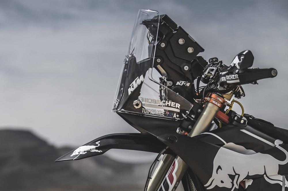 Раллийный мотоцикл KTM 450 Rally в черном цвете