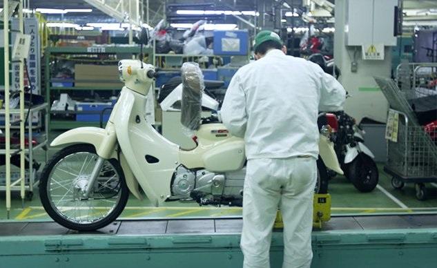 Производство Honda Super Cub 110 2018 в Кумамото (видео)