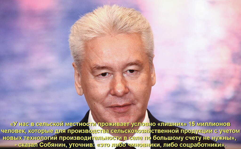 Сергей Собянин: В сельской местности проживают 15 млн условно «лишних» россиян