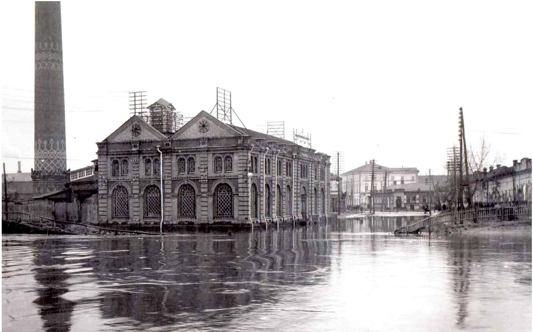 Наводнение на Кузнечной у электростанции