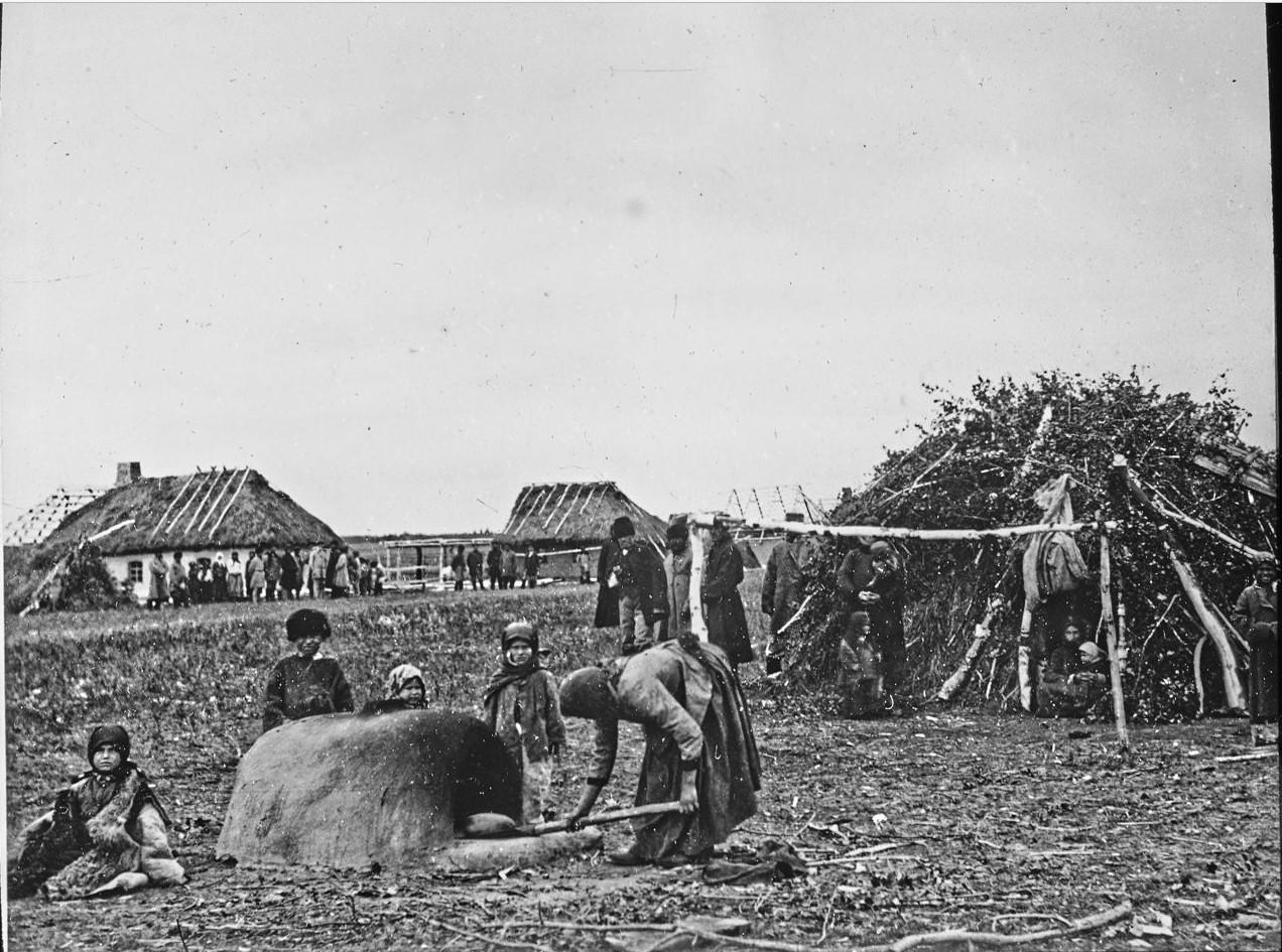 Акмолинская область. Исилькуль. Временное поселение, печь для выпечки хлеба