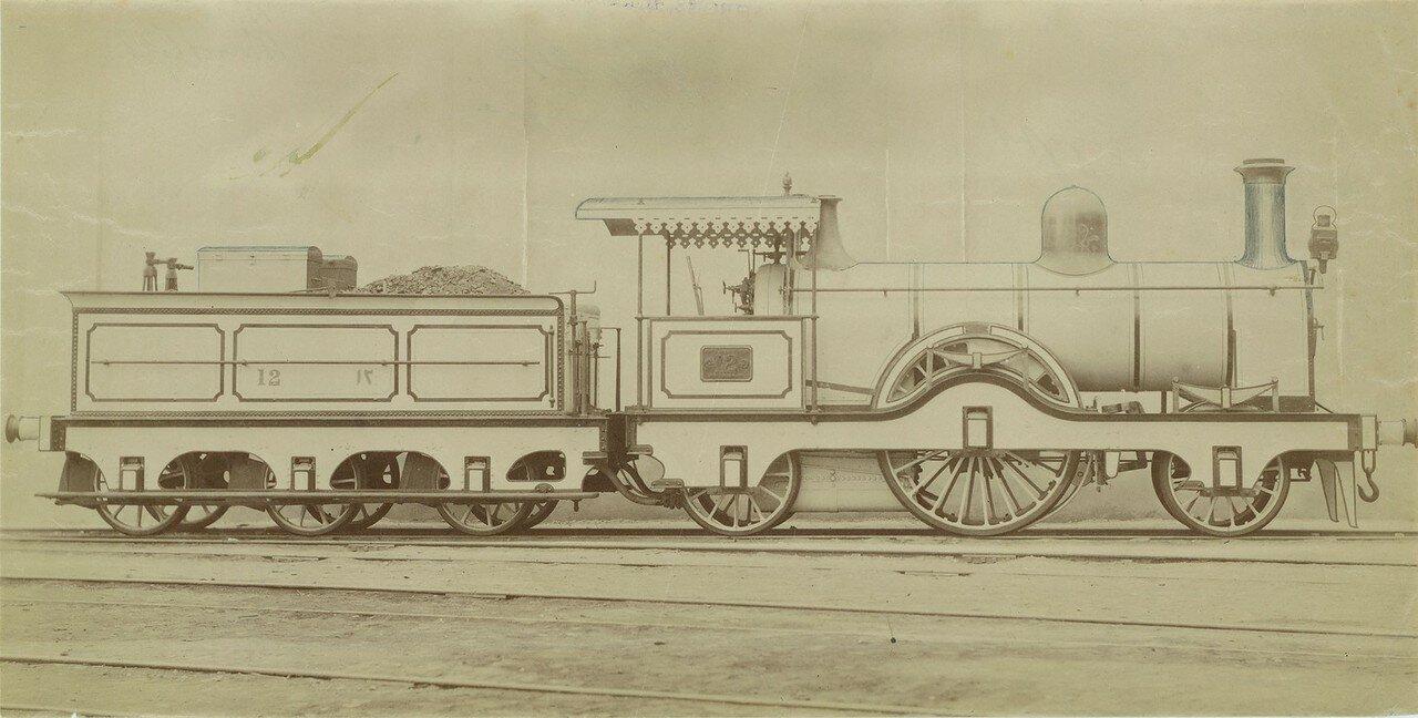 1865-1880. Локомотив компании «Neilson and Company» из Глазго