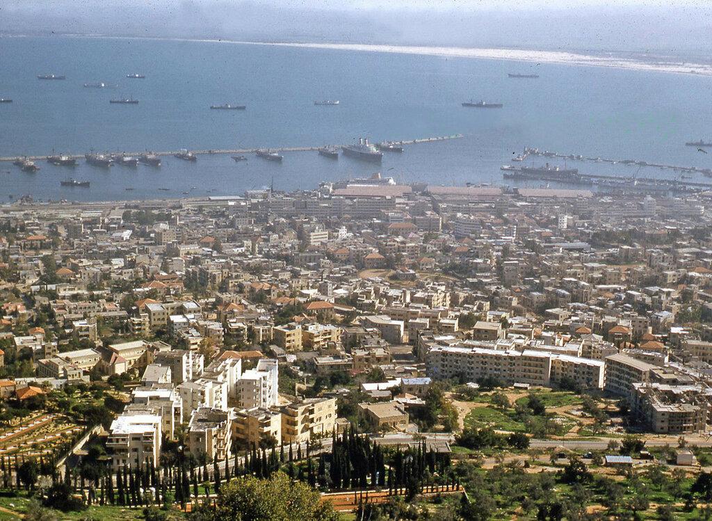 1950s Israel Haifa Harbor.JPG