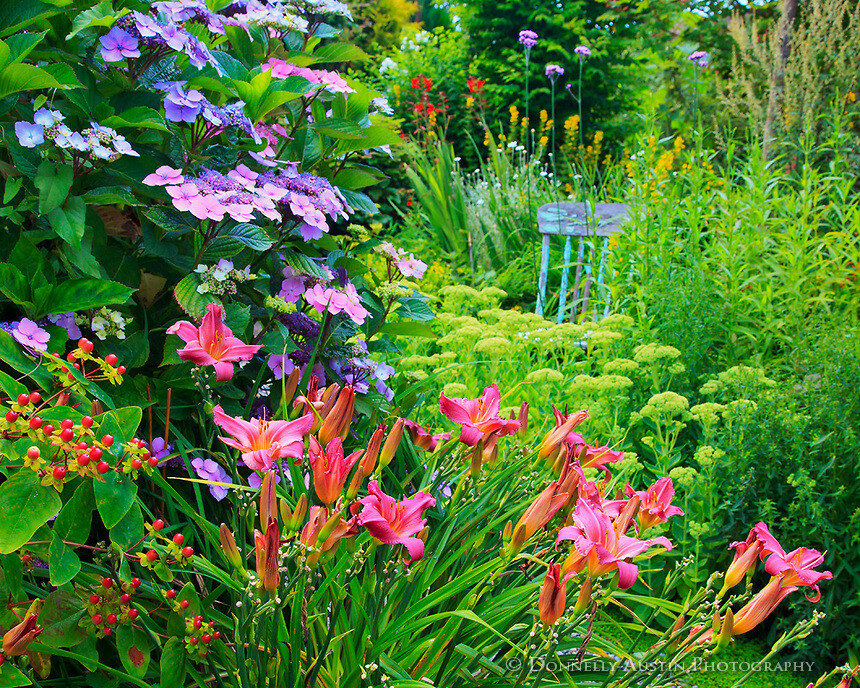 Красивый дизайн в частных садах (остров Вэшон Мори)