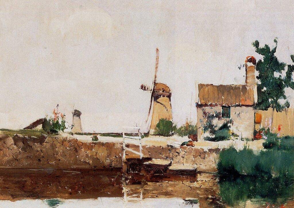 Windmills, Dordrecht, 1881.jpeg