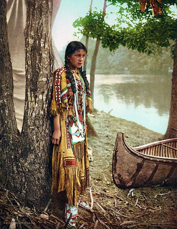 10 редких цветных снимков коренных американцев 19-го и 20-го века (10 фото)