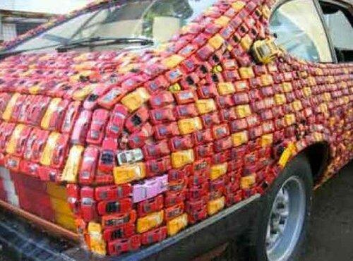 Необычные материалы для покрытия машин