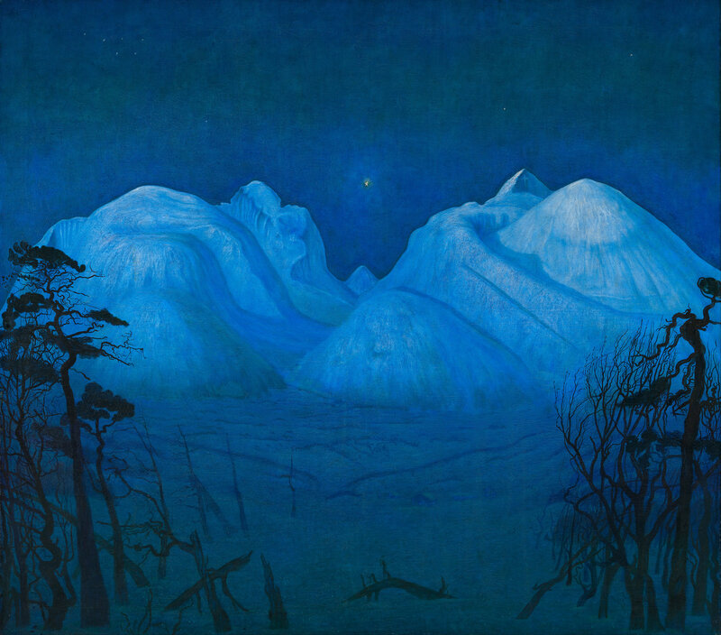Harald Sohlberg - Winter Night in the Mountains