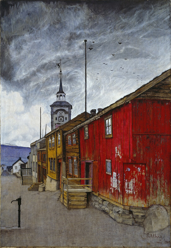 Harald Sohlberg - Street in Roros