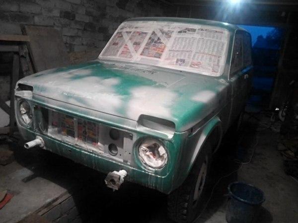 Пиксельная покраска авто. Новая жизнь старой Нивы.