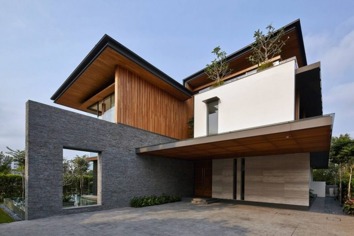 Greg Shand Architects designed this contemporary two-storey residence located in Singapore in 2010.