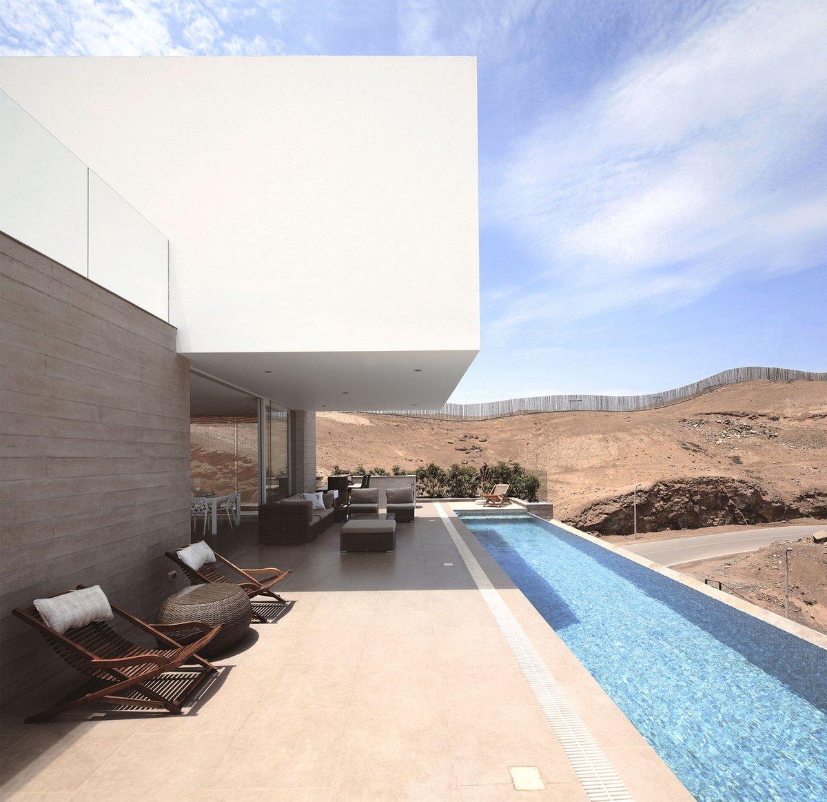 планировка частного дома фото, схема частного дома фото, Пукусана, Перу, Domenack Arquitectos, дом с видом на залив фото, дом с видом на город фото