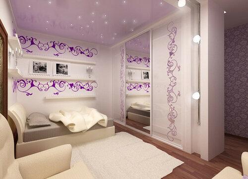 Интерьер спальной комнаты для девушки