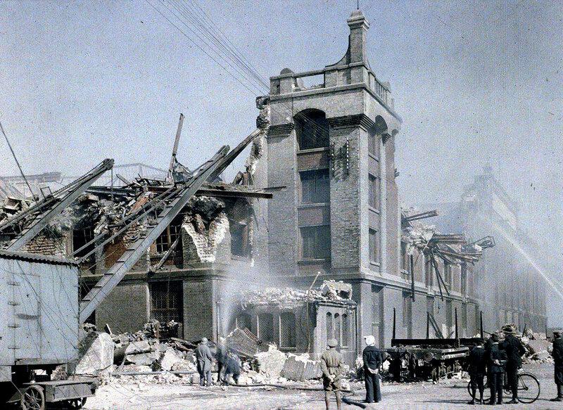 1916 Bombardement des 2 et 3 septembre 1916 Dunkerque by Paul Castelnau.jpg