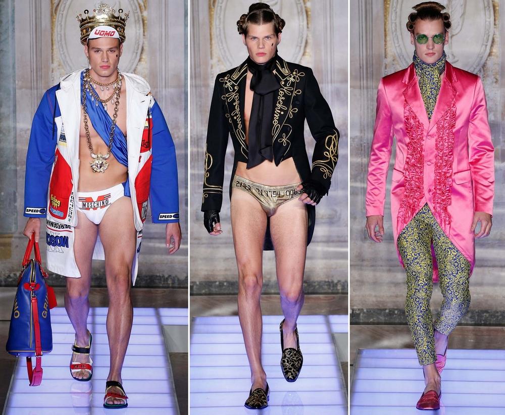 Мужская коллекция Moschino Spring 2016 Menswear