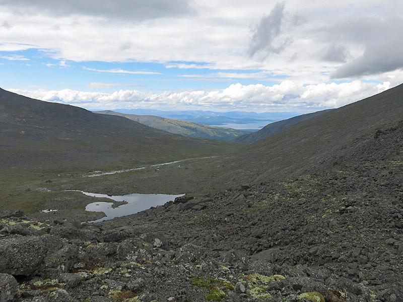 Вид с подъёма на перевал