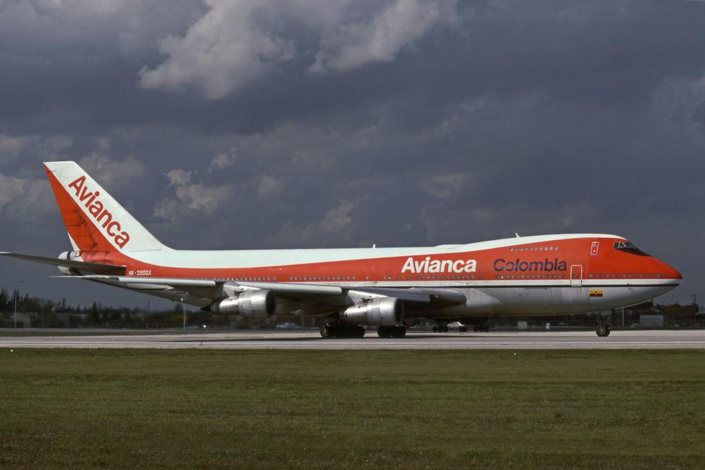 Boeing 747-100 авиакомпании AVIANCA Colombia