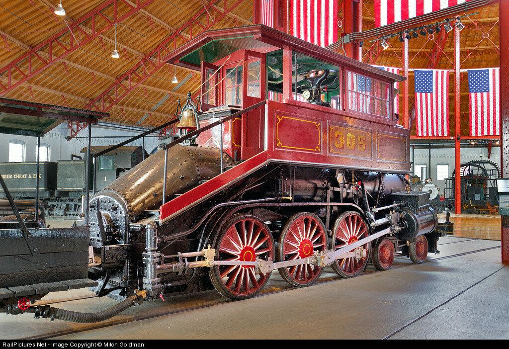 BO 305 Davis Camel Steam 4-6-0, Baltimore & Ohio  Railroad Museum, Baltimore, Maryland, USA, June 15, 2012.